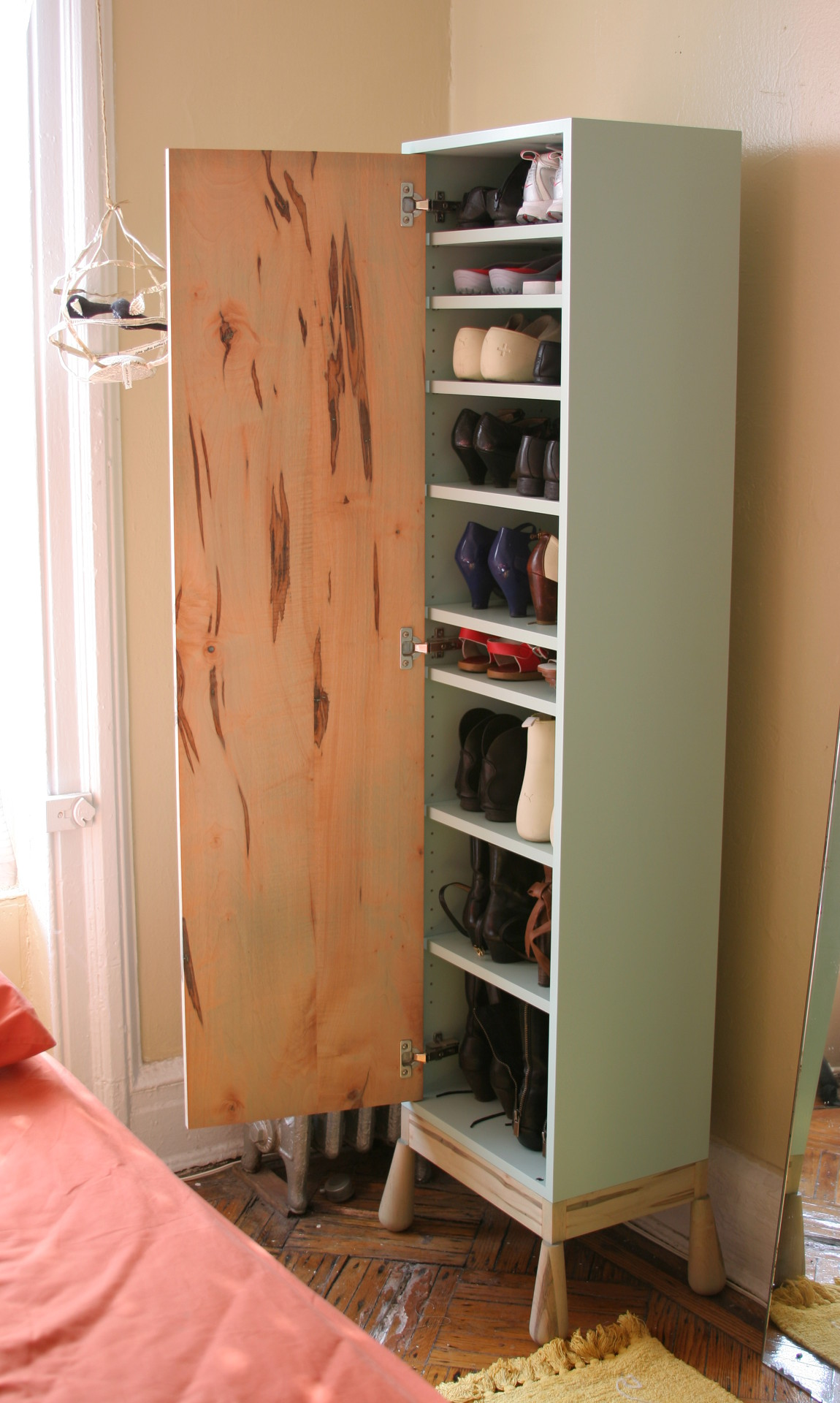 Shoe storage cabinet - Long Grain Furniture