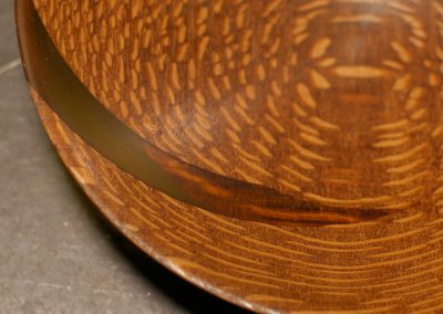Lighted Bowl #2: Leopardwood with Yellow Points