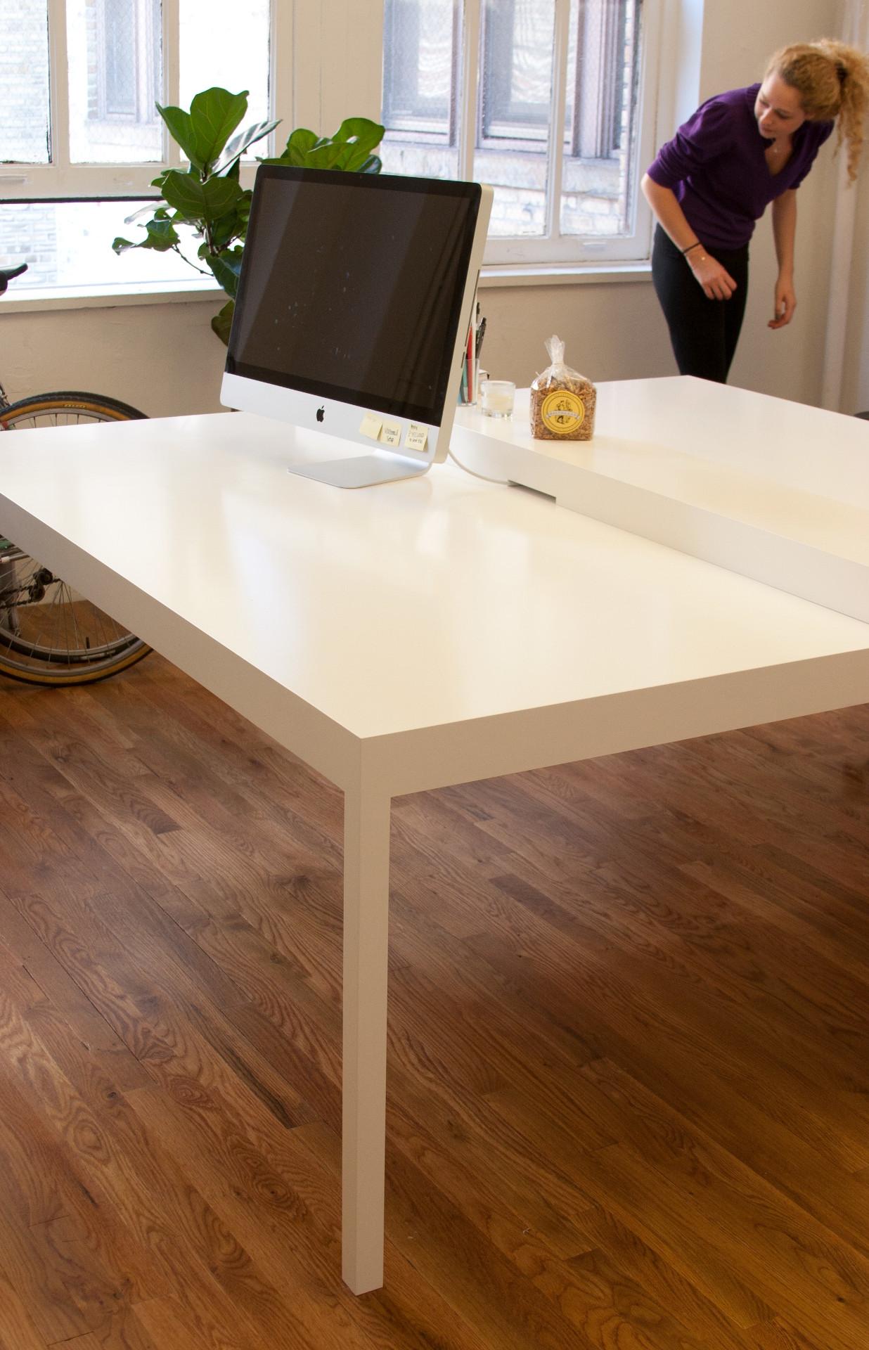 Parsons desk white