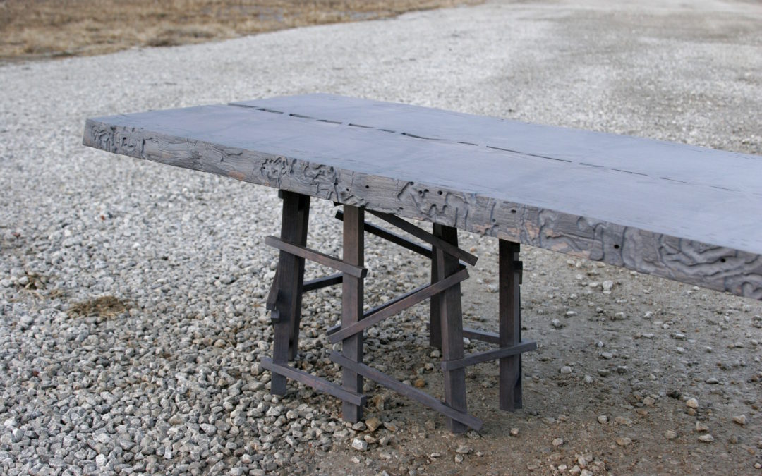 Ash slab bench/coffee table
