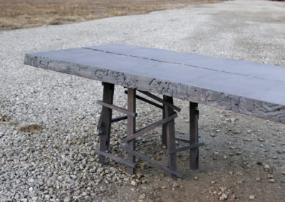 Ash slab bench/coffee table