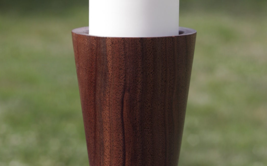 Nefertiti candlestick (walnut, large)