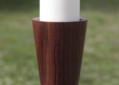 Nefertiti candlestick (walnut, large)