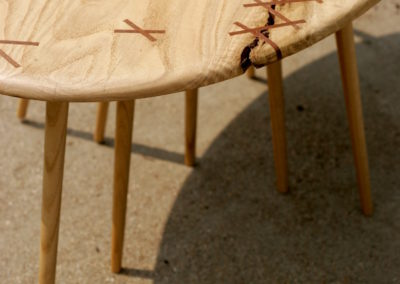 Stitched Elliptical Coffee Table