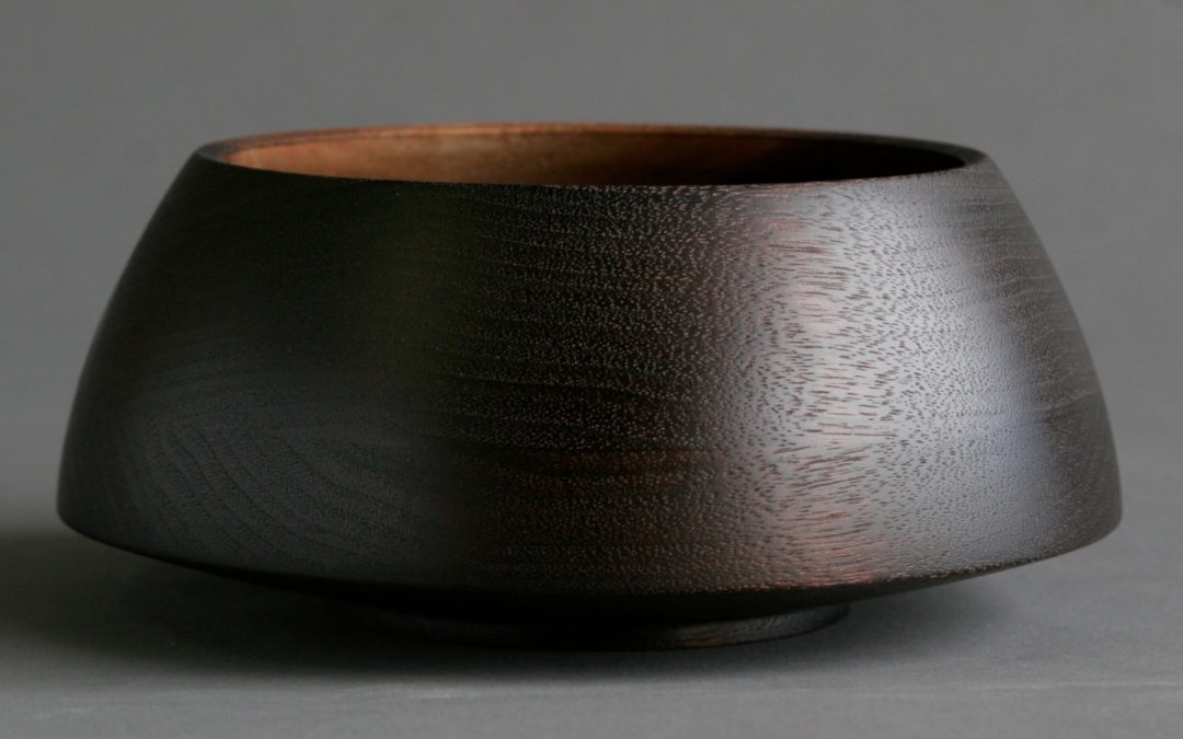 Bowl Blackened Walnut Arched Sides