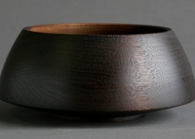 Bowl Blackened Walnut Arched Sides