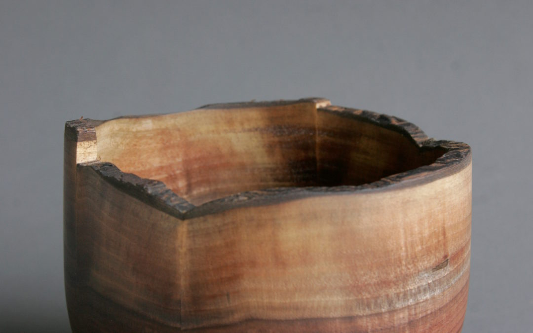 Walnut Bowl Live Edge Rim High Straight