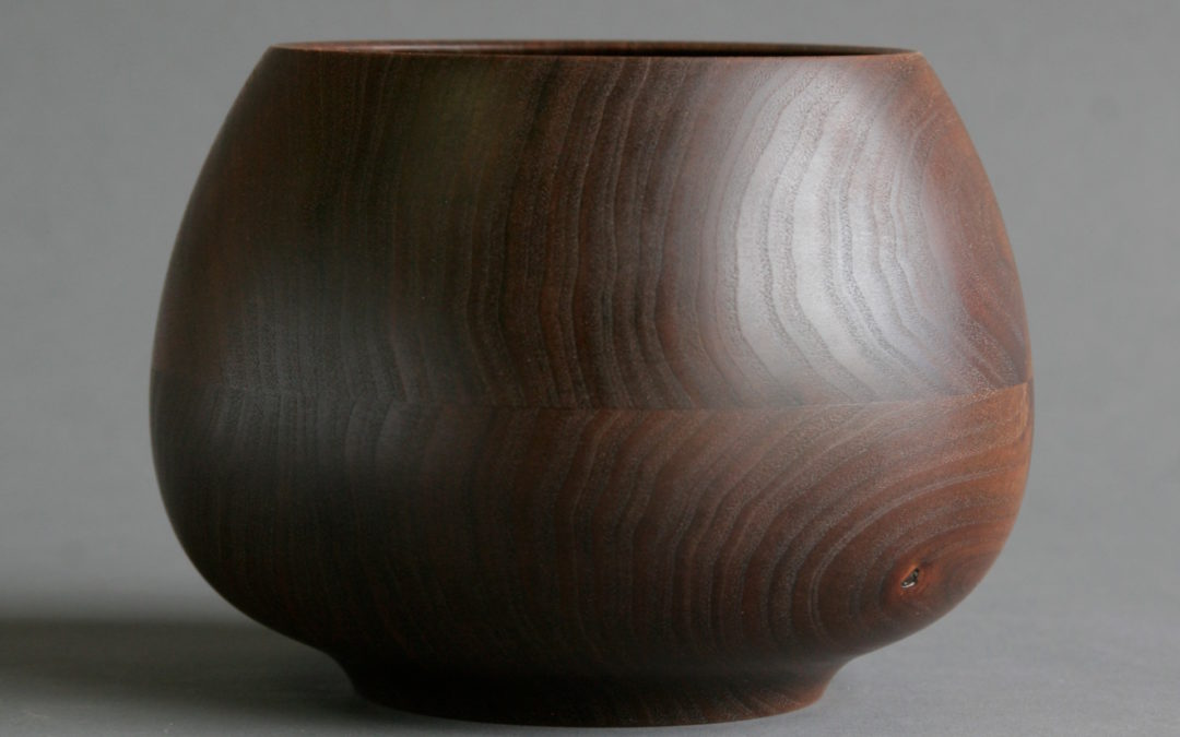 Ashpot Bowl in Walnut